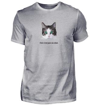 Ceci n'est pas un chat. (schwarzer Text)