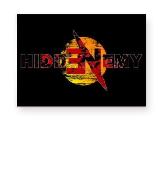 Hidden Enemy Bloody Cut Poster