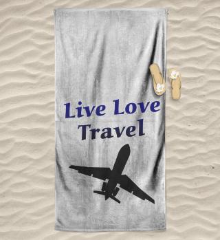 Live Love Travel Strandtuch