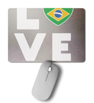 Ich liebe LOVE Brasilien Flagge Fahne He