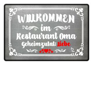 Willkommen Oma Restaurant Geschenk