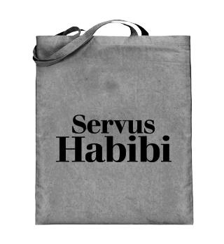 Tote Bag Servus Habibi white black