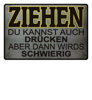 Ziehen Schwierig - Schwarz Gelb