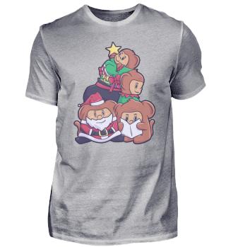 Affe Familie Weihnachten Freunde Gorilla