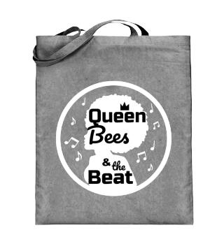 Queen Bees Jutebeutel schwarz