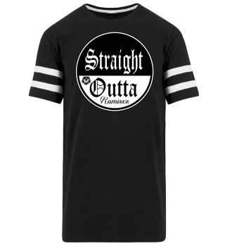 Herren Kurzarm T-Shirt Straight Outta BW Striped Ramirez