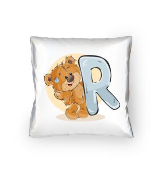 Bär mit Buchstabe R
