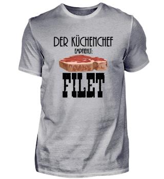 Filet vom Rind wird vom Koch empfohlen