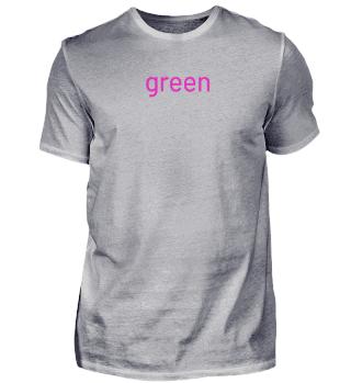 grünes - pinkes T-shirt