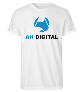 AH Digital Rolled up Sleeve White