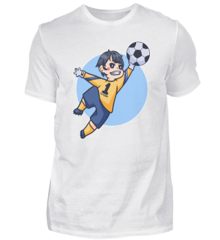 Junge Torwart Parade Fussball Sport Kind