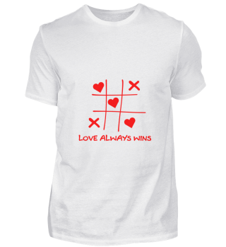 Love always wins game Tic Tac Toe
