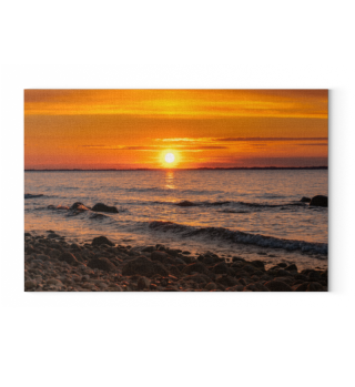 Sonnenuntergang Steinstrand Leinwand