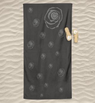 Badetuch-schwarze-Rose