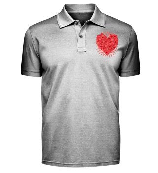Valentinstag Lots Of Hearts T-Shirt Gesc
