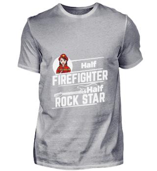 D001-0555A Female Firefighter Feuerwehr