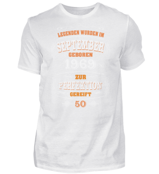 50. Geburtstag T-Shirt September