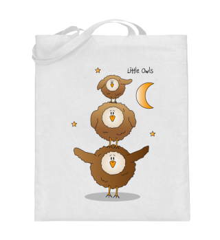 Little Owls - Jutetasche (Eule / Eulen)