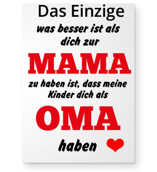 Mama Poster Geschenk