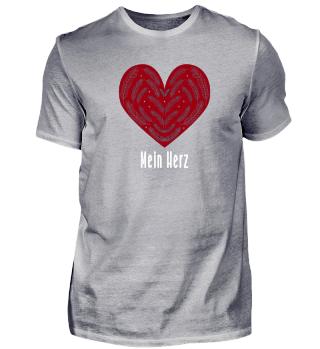 Valentinstag - Herz Design Herz TShirt