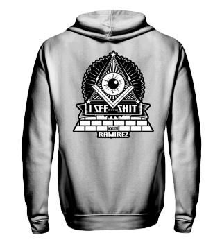 Herren Zip Hoodie Sweatshirt I See Shit Ramirez