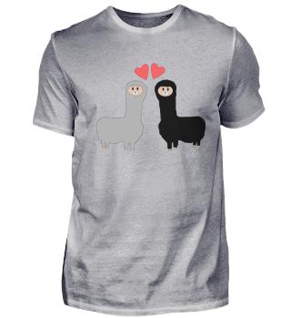 (1257) Verliebte Lamas
