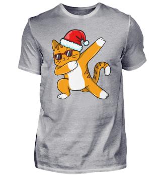 Dabbing Cat Dance Funny Christmas Dab