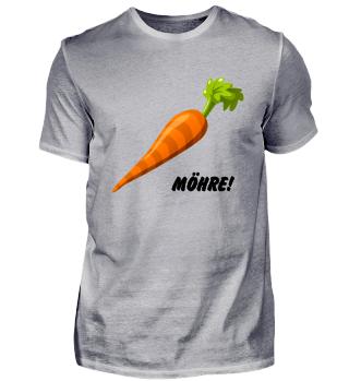 Möhre! Veganer Vegetarier Geschenkidee