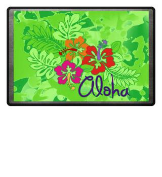 Tropical Aloha Hibiscus Blossoms II