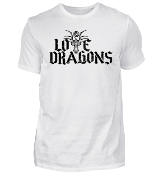 Love Dragons - black grunge