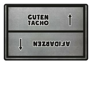 Guten Tacho Fußmatte
