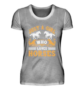 Girl who loves horses