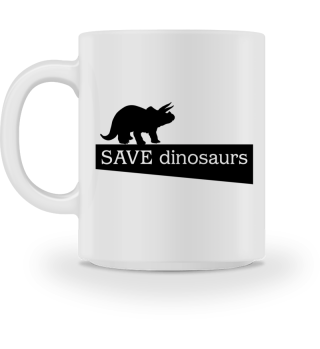 SAVE dinosaurs - black