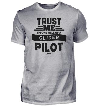 Glider pilot airport upswing