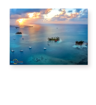 Sonnenuntergang in den San Blas - Poster A3
