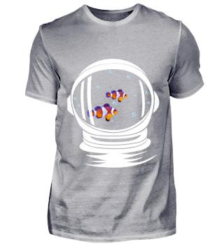 Astronaut Helm Aquarium Clownfisch All