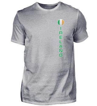 Ireland Flag Round Pocket Modern Easy Read Vertical Ireland design