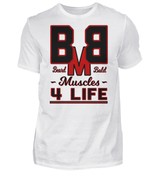Beard Bald Muscles 4 Life, Training Fitness Motivations Geschenk