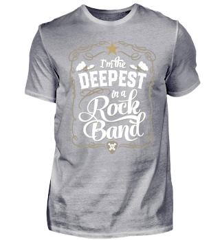 Rock Band Bassist Deepest T-Shirt
