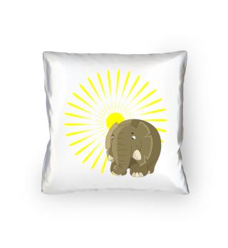 Elefant im Sonnenaufgang