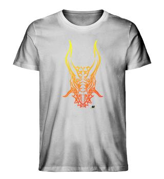 Drache Tribal gelb-rot hell