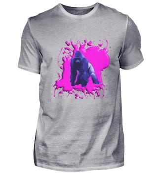 Gorilla Blau und Pink - Herren