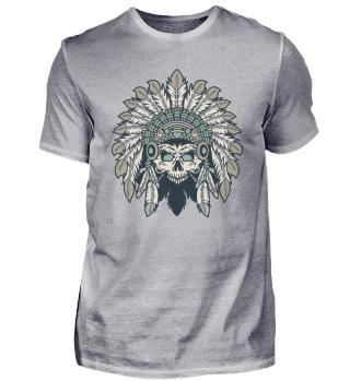 ☛ Indian Headdress Skull #20.1