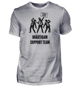 Game Over – Bräutigam Support Team (JGA / Bier) Black