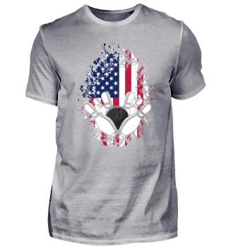 US American Flag Bowling - Bowling Sport