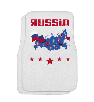 Russia Map Russian Flag CCCP