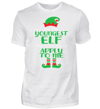 CHRISTMAS YOUNGEST ELF T-SHIRT