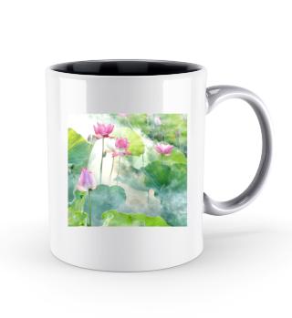 Lotusblume Tasse Entspannung Präsenz Buddha Yoga Zen
