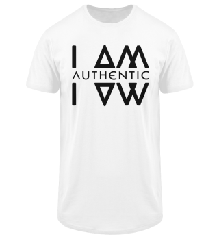 Authentic I Am Wht Men Long Tee