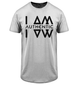 Authentic I Am Wht Men Long Tee